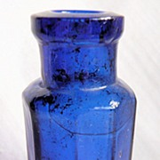 Small Cobalt Glass Bottle