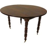 19th c. Louis-Philippe Side Table or Drop Leaf