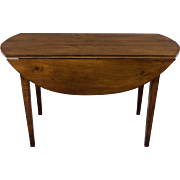 French Country Oval Drop Leaf Table