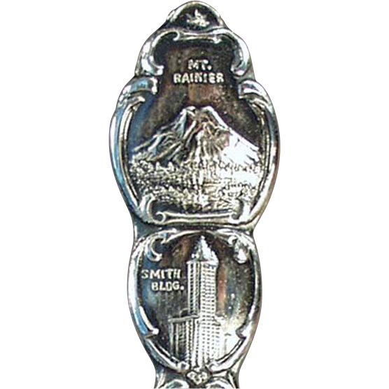 Old, Sterling Silver, Demitasse Souvenir Spoon - Seattle