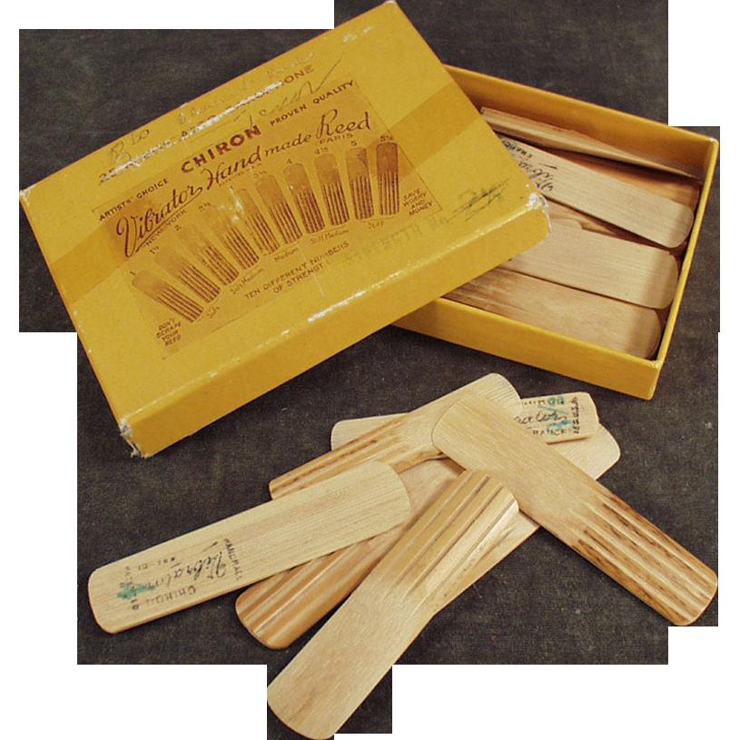 Old Chiron Vibrator, Handmade Reeds w-Original Package