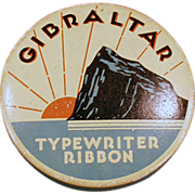 Old, Typewriter Ribbon Tin - Gibraltar