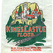 Old, King's Castle Flour Sack, Advertising Sample Mailer