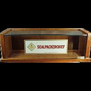 Old, Sealpackerchief, Handkerchief Display Case