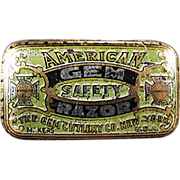 Old Razor Blade Tin -  American Gem Razor, Wedge Blade Tin