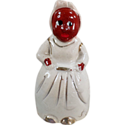 Old, Black Mammy, Porcelain Bell with Gold Trim