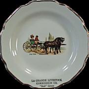 Old, La Grande Livestock Commission - Bob Green, Souvenir Plate