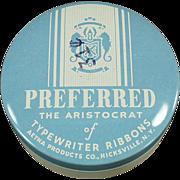 Old, Preferred Brand, Typewriter Ribbon Tin