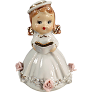 Old, Lefton, Porcelain Bell - Small Girl