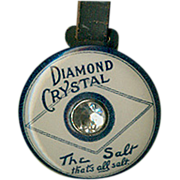 Old, Celluloid, Advertising Watch Fob - Diamond Salt