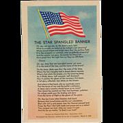 Old, Patriotic Postcard - The Star Spangled Banner