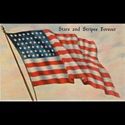 Old, Patriotic Postcard - The American Flag