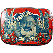 Old, Yankee Safety Razor, Advertising Tin - Early 1900's