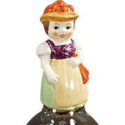 Old Glass Bell - Goebel with Young Girl Handle