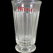 Old, Nestle's Advertising Soda or Malt Glass