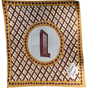 Large, Old, Cloth Napkin with Hilton Tower
