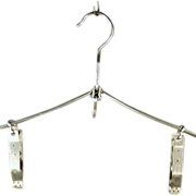 Old, Setwell, Folding Garment Hanger with Clips