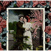 SALE Old Postcard with Lovelorn Poem
