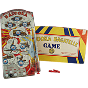 "Old, Marx, ""Bazooka"" Bagatelle Marble Game with Original Box"