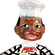 Old Spoon Rest with Black Chef Nodder Head - Vintage Black Memorabilia