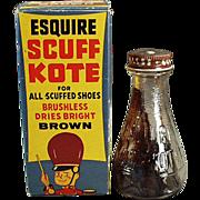 Old, Scuff-Kote Shoe Polish with Circus Theme