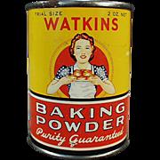 Old, Watkins Baking Powder, Sample Tin