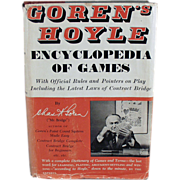 Old, Encyclopedia of Games - 1961 Hardbound by Goren