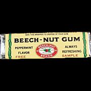 Old, Beech-Nut Gum, Sample Stick