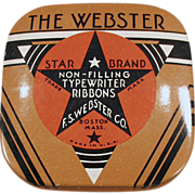 Old, Webster Typewriter Ribbon, Advertising Tin - Small Size