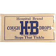 Old, H-B Cough Drops, Sample Box - Unopened