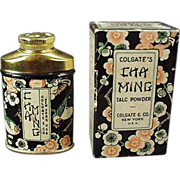 Old, Clogate Cha Ming, Sample Talc Tin w-Original Box