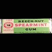 Old, Beech-Nut Spearmint Gum, Sample Stick
