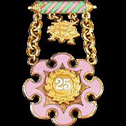 Old, Degree of Rebekah, Veterans Jewel - 25 Year Pin