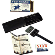 Old, Star, Safety Razor with Case and Box