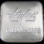 Old Advertising Tin - Huyler's Italian Pepps - Early 1900's