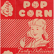 Old, Empire State Nut Company, Popcorn Box with Boy & Girl Graphics