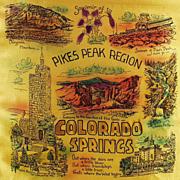 Old, Pikes Peak-Colorado Springs Souvenir, Pillow Cover in Original Mailer