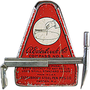 Old, Esterbrook Drafting Compass with Original Tin - 1920's
