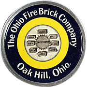 Old, Celluloid Advertising Paperweight - Ohio Fire Brick