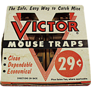 Old, Victor Mouse Trap 2 Pack with Original Box - Unused