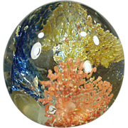 Old Glass Paperweight - Frankenmuth, Michigan Souvenir