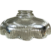 Shallow, Vintage Light Shade with Scalloped Edge