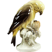 Old, Porcelain, Parakeet Figurine - Hertwig of Germany