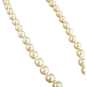 Old, Single Strand, Simulated Pearl Necklace - Classic Look