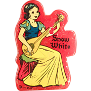 Old, Disney Pencil Sharpener - Snow White on Red Catalin