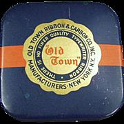 """Vintage, Typewriter Ribbon Tin - """"Old Town"""""""