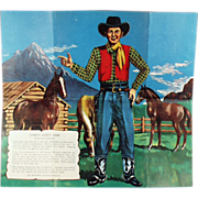 """Old, Party Game for Children - """"Pin the Gun on the Cowboy"""""""