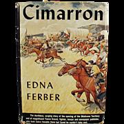 """Old, Hardbound Book - Edna Ferber Novel """"Cimarron"""""""