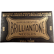 Old Phonograph Needles - Brilliantone 100 - Full, Unopened Package