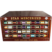 "Old, ""Star"" Spool Cabinet - Metal Display Case"